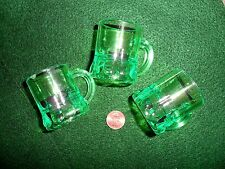 Green Plastic Beer Mugs St Patty's Shot Glass or Hang on Necklace