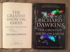 HAND-SIGNED! Richard Dawkins 'The Greatest Show on Earth' 1/1 RARE