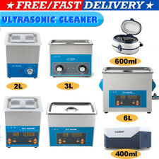 Digital Ultrasonic Cleaner Ultra Sonic Heat Timer Stainless Steel Cleaning Tank