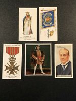 Mixed Lot Of 5 John Player, Wills's & Godfrey Phillips Cigarettes Tobacco Cards
