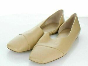 24-75 NEW $275 Women's Sz 8.5 M Vince Cyder Leather d'Orsay Flat In Cappuccino