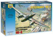 ZVEZDA 4809 SOVIET DIVE BOMBER PETLYAKOV PE-2 SCALE MODEL KIT 1/48 NEW WWII