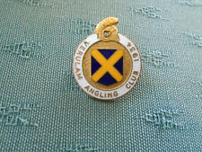 VINTAGE VERULAM ( ST ALBANS ) ANGLING CLUB 1934 - FISHING ENAMEL PIN BADGE
