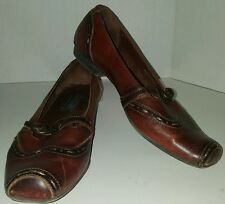 Pikolinos size 39 SPAIN BRITISH brown leather low heel flat casual shoes size 9