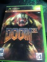 Doom 3 (Microsoft Xbox, 2005) Complete In Box CIB Free Shipping