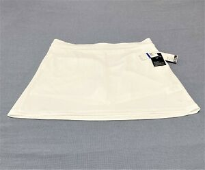 Callaway Opti Dri Solid White Golf Tennis Skort Skirt Sz XL Breathable Comfort