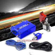Blue Dual Stage Manual Electronic Turbo Charger Boost Controller+Rocket Switch