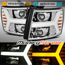 AlphaRex For 2007-2013 Chevy Silverado Upgrade Model Projector Headlights Chrome