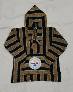 NFL Pittsburgh STEELERS Mexican Baja hoodie pullover sweater X Large