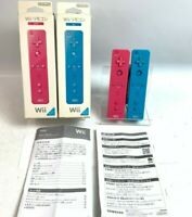 NINTENDO Wii Remote Controller Motion Plus Pink & Blue Lot of 2 Japan Fedex
