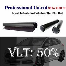 "Uncut Roll Window Tint Film 50% VLT 30"" In x 30' Ft Feet Car Home Office Glass"