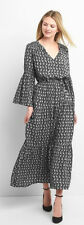 NWT! GAP PRINT MAXI BELL SLEEVE TIER DRESS SIZE S IN STORE NOW