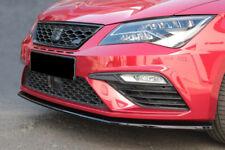 CUP Spoilerlippe für Seat Leon MK3 Cupra Facelift Front Diffusor Schwert Ansatz