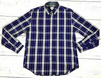 J.Crew Shirtings Mens Washed Tartan Shirt Sz Medium Long Sleeve Button Up