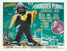 "1950's Sci-Fi 1956 Forbidden Planet Robby the Robot Silk Movie Poster 24"" x 32"""