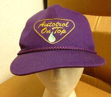 AUTOTROL ON TOP baseball hat horsepower gear cap motors vtg embroidery 1980s