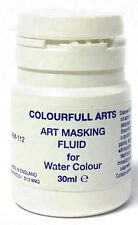 2 X 30ml Artist Masking Fluid for Watercolour Paints Painting Canvas Paper AM112