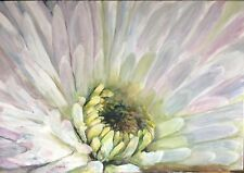 """Original Oil On Canvas By Artist- Large White Flower - 24"""" X 36"""" $595"""