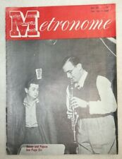 Vintage Metronome Music Magazine May 1949 Benny and Popsie