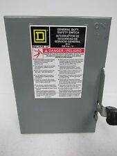 SQUARE D CAT.DU321 SER.E2 TYPE 1 ENCLOSURE 30A  SAFETY SWITCH