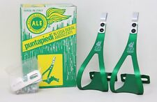 NOS ALE 97/L.D TOE CLIPS ALLOY GREEN CAMPAGNOLO SUPER RECORD QUILL PEDALS SIZE L