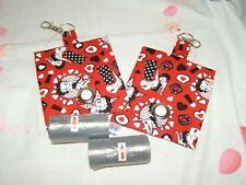 HANDMADE FABRIC DOG POO POOP BAG HOLDER DISPENSER BETTY BOOP FABRIC