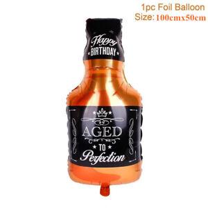 Decor Hen Party Supplies Champagne Foil Balloon Aluminum Cup Beer Bottle Shape