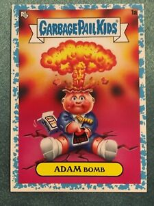 2020 Garbage Pail Kids 35 Anniversary Adam Bomb..Rare Spit Blue #82/99