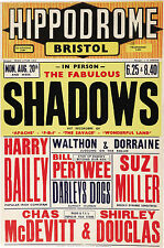 "The Shadows Bristol Hipperdrome 16"" x 12"" Photo Repro Concert Poster"