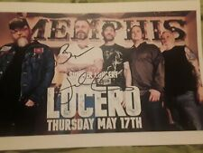 Lucero signed concert flyer Memphis free summer concert series at JBGB Proof