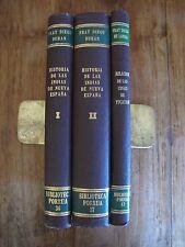 Konvolut  3 Libros Historias de las Indias Fray Diego Duran Spanisch