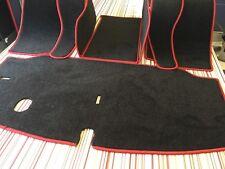 VW t2 Camper Bus Taxi Manta Alfombra conjunto Principios/Finales Bay LHD/RHD Negro/Rojo Costura