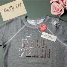 Wildfox Hell Yeah Sweatshirt XS NWT Grey