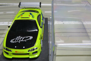 For H0 Slotcar Racing Model Railway Mitsubishi Eclipse With TOMY Chassis IN Box