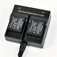 Dual Charger +2x Battery for Panasonic DMW-BLG10E BLG10PP DMC-GX7 DMC-GF6 DE-A98