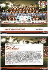 Mannschaftskarte Mannschaftsbild Bayer 04 Leverkusen 2010/11