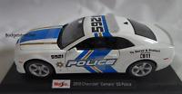 MAISTO 1:18 Scale - 2010 Chevrolet Camaro SS Police Car - White -  Diecast Model