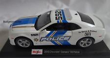 MAISTO 1:18 Scale Diecast Model - 2010 Chevrolet Camaro SS Police Car -  White