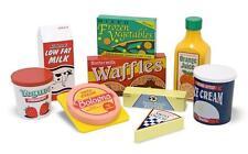 Food Play Set Waffle Milk Ice Cream Kids Toddler Pretend 9 Pc Kitchen New