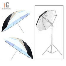 "Universal 2pcs 43""/110cm Removable reflective black and white Softlight umbrella"
