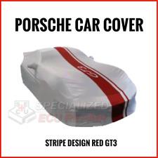 Porsche GT3 Car Cover OEM Indoor w/ logo stripe design Red  991 044 000 46