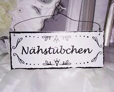 Bild Türschild NÄHSTÜBCHEN Deko Schild Holz Shabby Vintage Landhaus haus