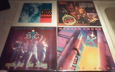 BARREN CROSS 4 ALBUM COLLECTION on 5 LPs Haven CREED Saint STRYPER MaidenManowar