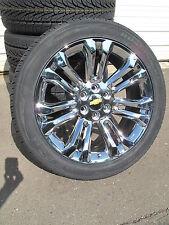 """22"""" New Chevrolet Tahoe Silverado Suburban Chrome Rims 3054022 Nexe Tires 5666 G"""