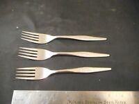 3 Oneida Community WOODMERE stainless dinner forks