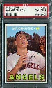 1967 Topps #213 Jay Johnstone RC PSA 8 NM-MT