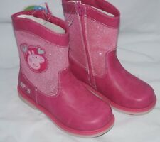 PEPPA PIG BOOTS  ZIP UP  PINK BOOTS  SIZE 7 SALE WAS £24.99 NOW £16.99