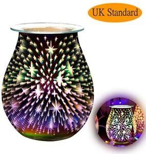 Aroma 3D Electric Tart Wax Melt Warmer Oil Burner Star LED Night Lamp UK Plug