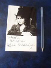 Helena Bonham Carter  Autograph (DD4) stain to card see image