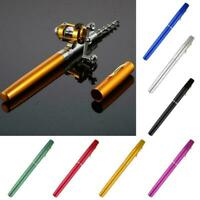 Mini Fishing Rod Bait Telescopic Portable Pocket Aluminum Pen Pole ne Reel Y0S8